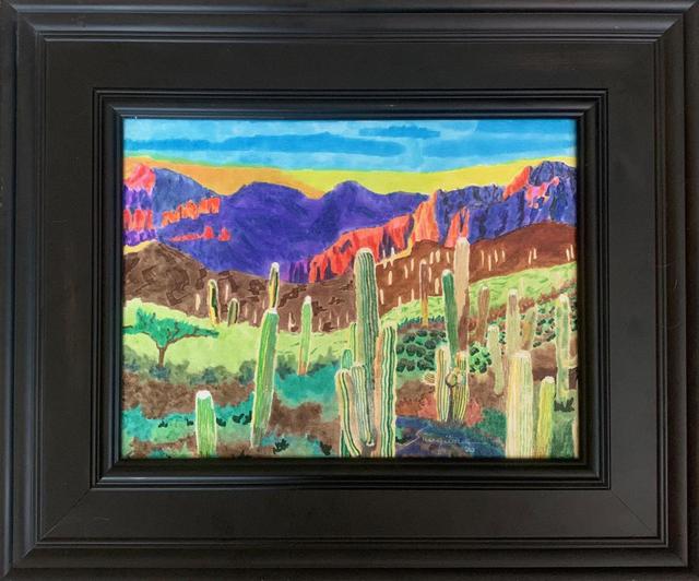 watercolor: Desert Sunset