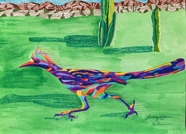 watercolor: Roadrunner
