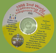 1998 2nd World Gathering On Indigenous Peoples DVD cover