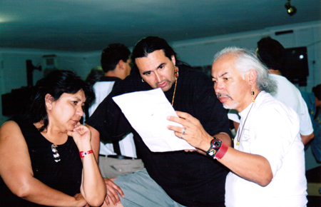 Grand Chief Lynda Prince, Richard Twiss, and Suuqiina