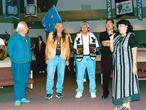 Suuqiina, Ken Gilbert, Johnny Vialobos, Doug Yates,  Grand Chief Lynda Prince