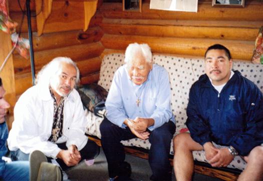 Suuqiina with Grand Chief Peter John and Doug Yates