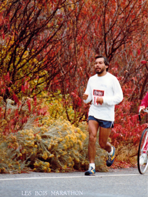 Suuqiina running Les Bois Marathon