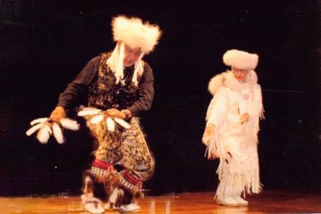Suuqiina and Qaumaniq dancing